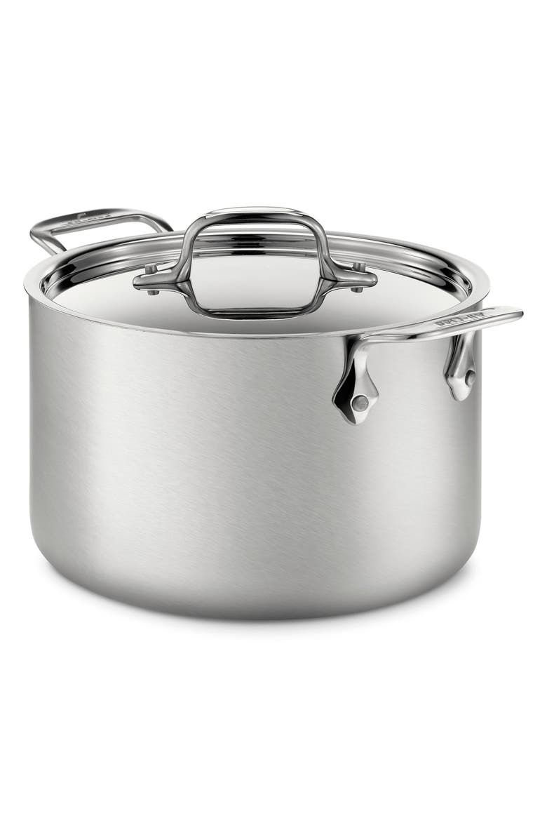ALL-CLAD 4-Quart Stainless Steel Soup Pot, Main, color, STAINLESS