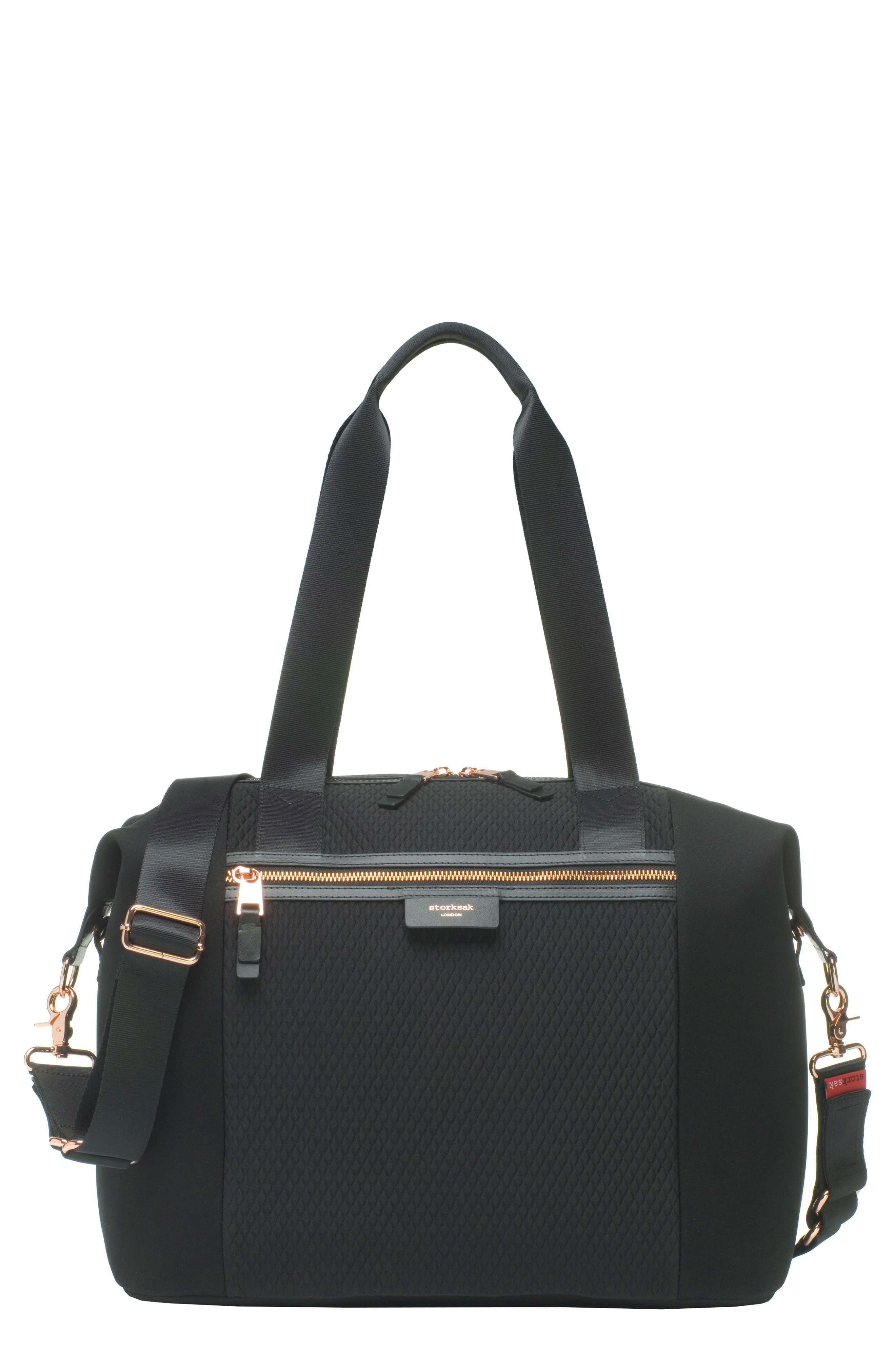 Stevie Lux Diaper Bag, Main, color, SCUBA BLACK