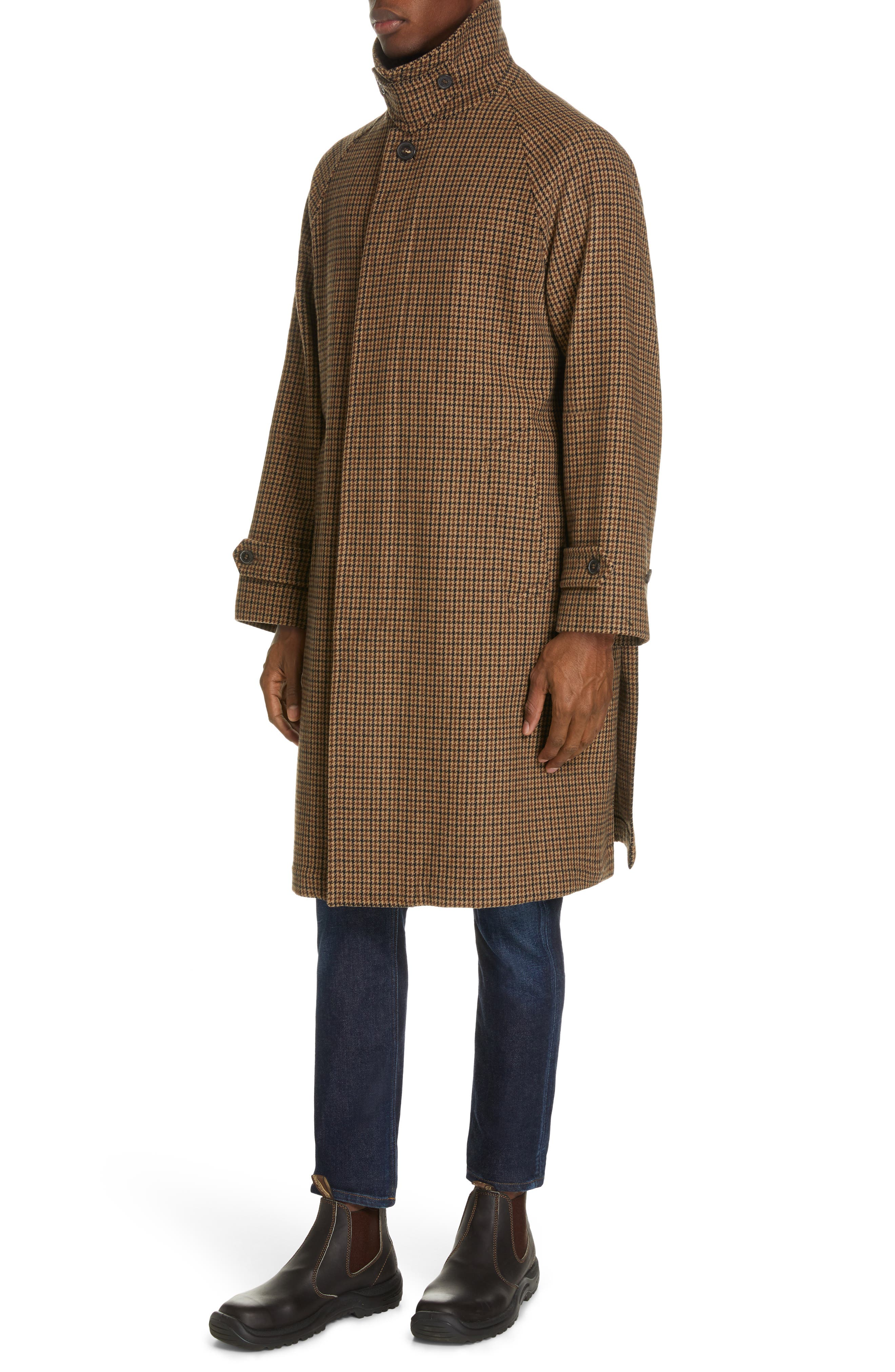,                             Gents Gun Club Check Virgin Wool Coat,                             Alternate thumbnail 4, color,                             GUNCLUB