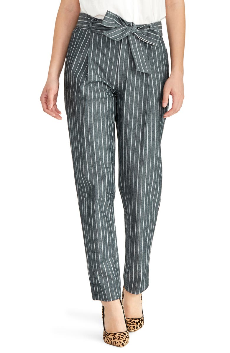 RACHEL ROY COLLECTION Stripe Denim Pants, Main, color, 430