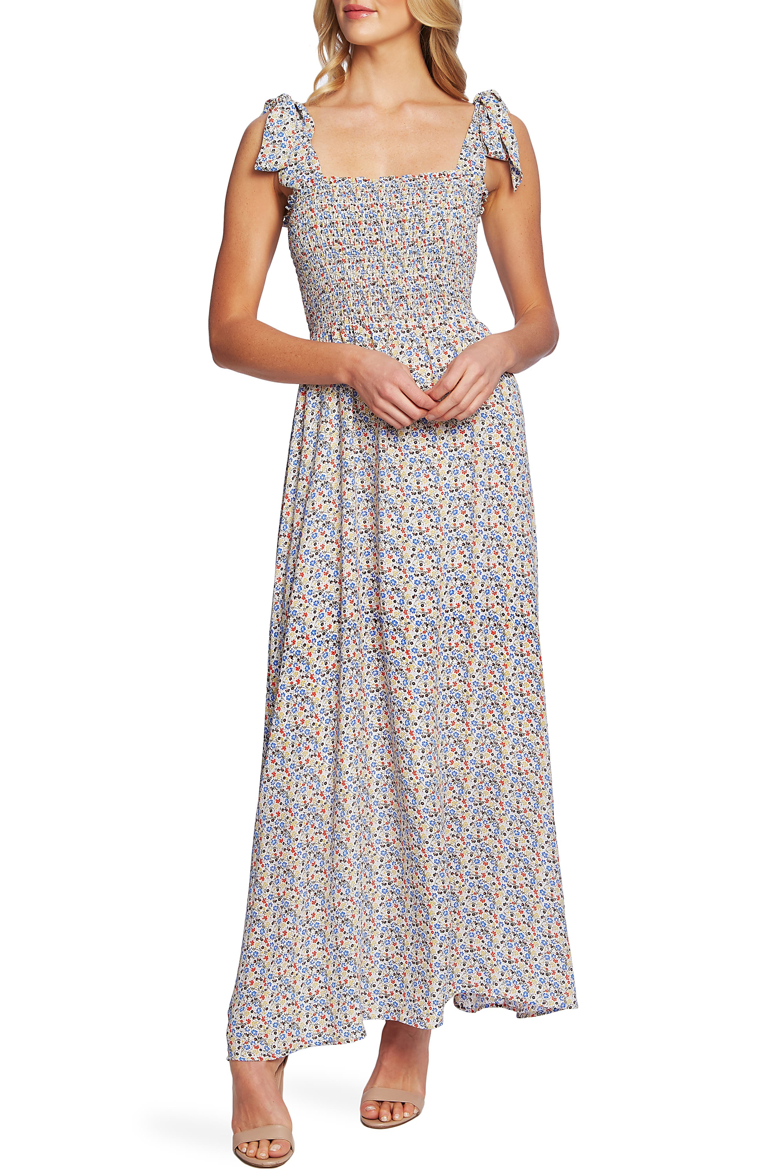182aaa0eb01 Cece Ditsy Print Maxi Dress, Ivory