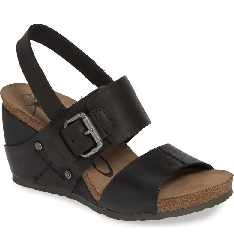 OTBT Overnight Wedge Sandal, Main, color, 001