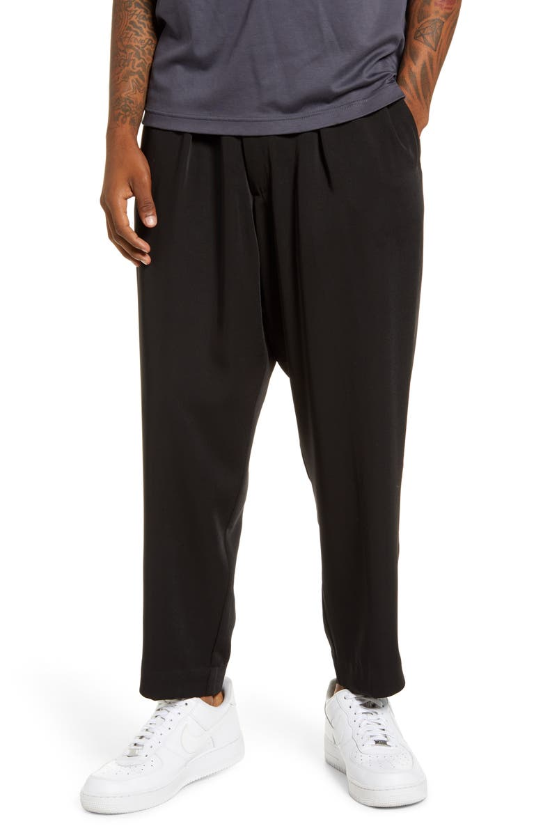 DRIFTER Henderson Crop Drawstring Pants, Main, color, BLACK