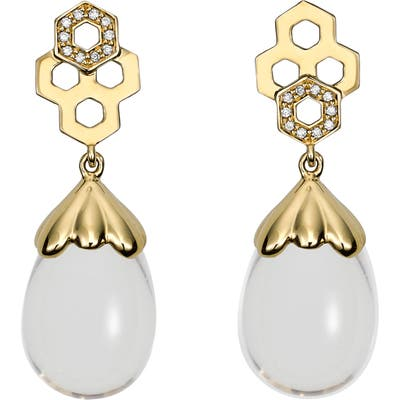 Temple St. Clair Beehive Amulet Diamond Pave Earrings