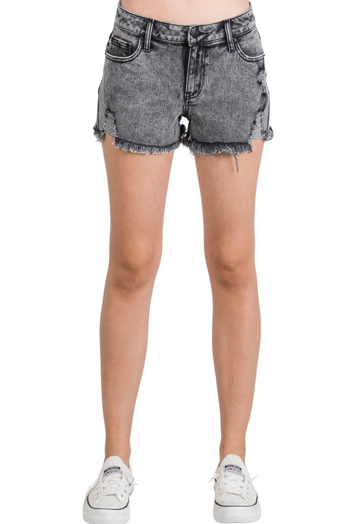 Distressed Acid Wash Shorts