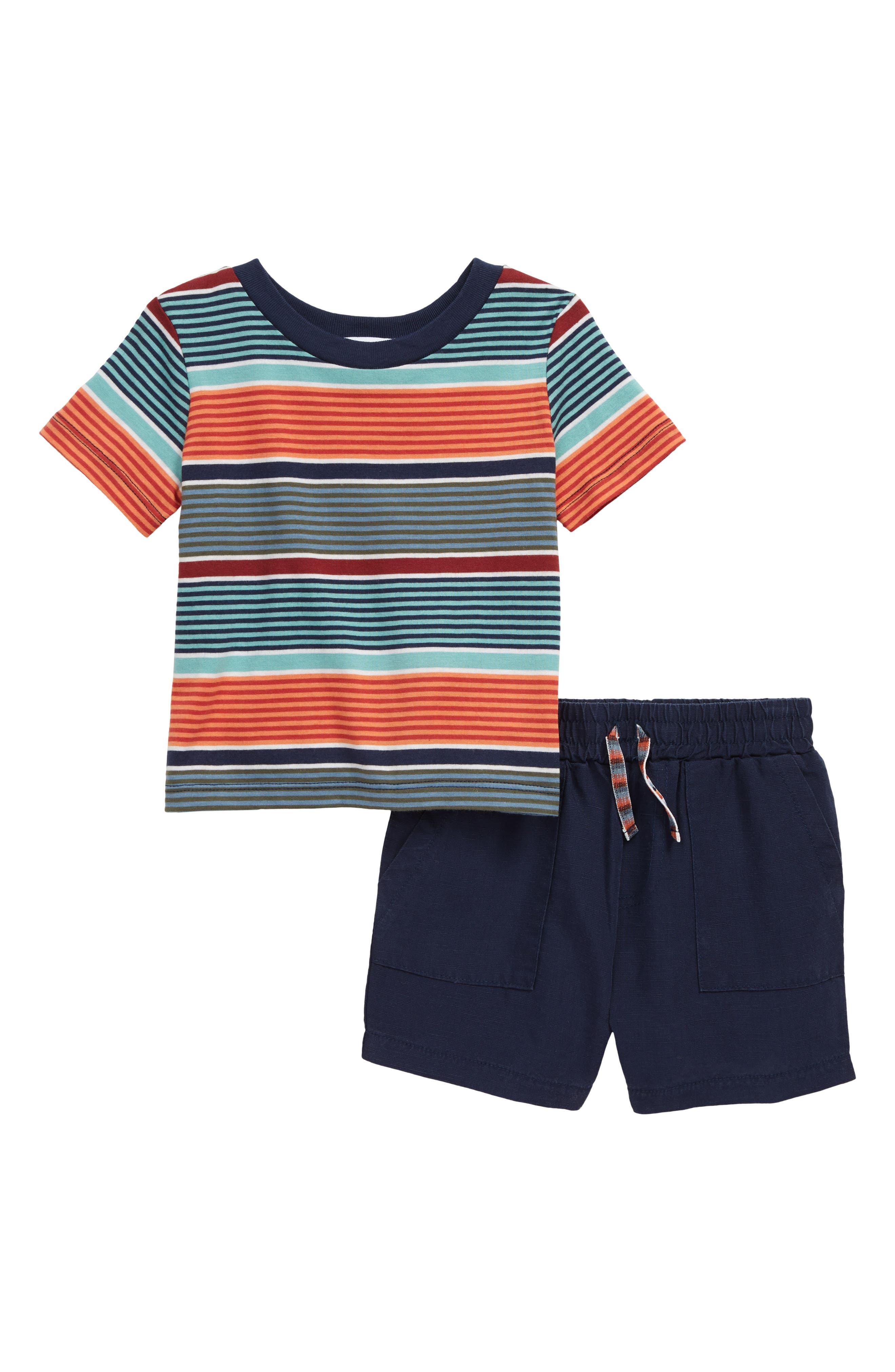 Image of Splendid Stripe T-Shirt & Shorts Set
