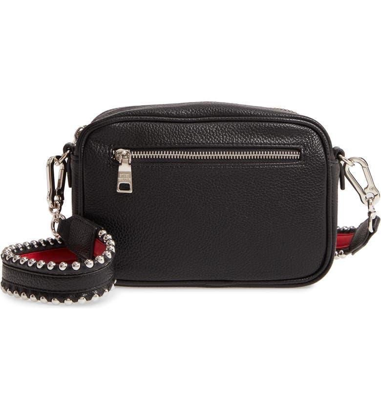 STEVE MADDEN Faux Leather Crossbody Bag, Main, color, BLACK