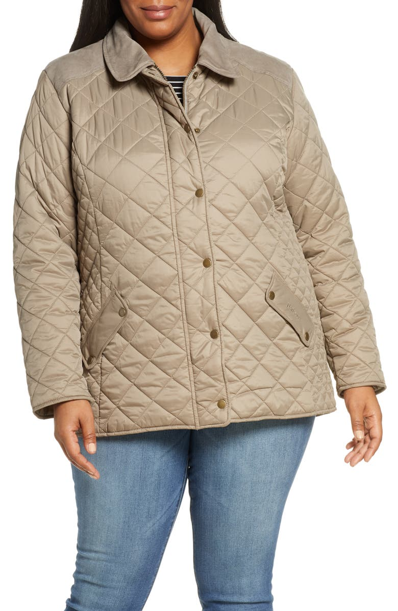 BARBOUR Exmoor Diamond Quilted Jacket, Main, color, TAUPE