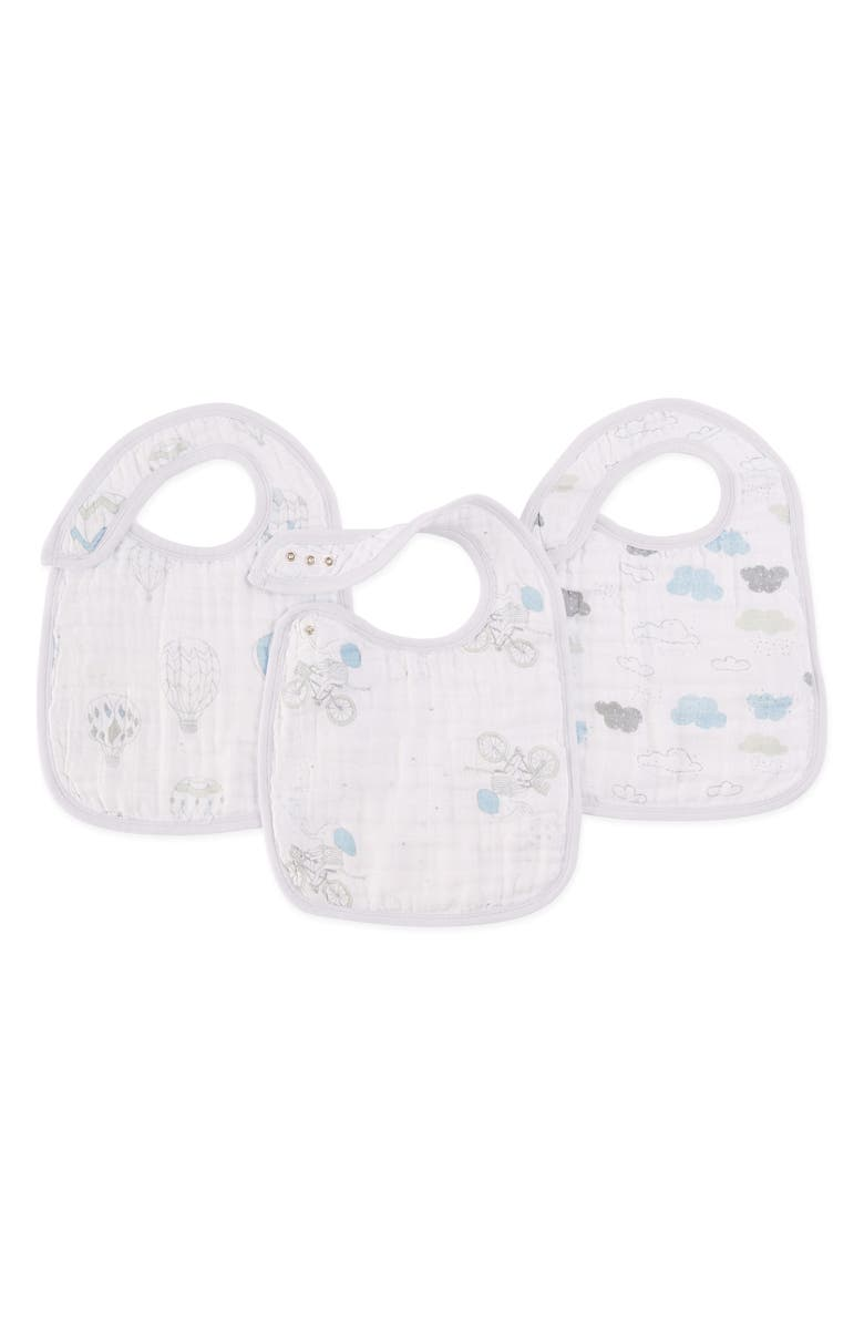 ADEN + ANAIS Classic Snap Bib, Main, color, NIGHT SKY REVERIE