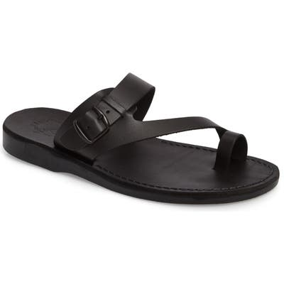 Jerusalem Sandals Abner Toe Loop Sandal - Black