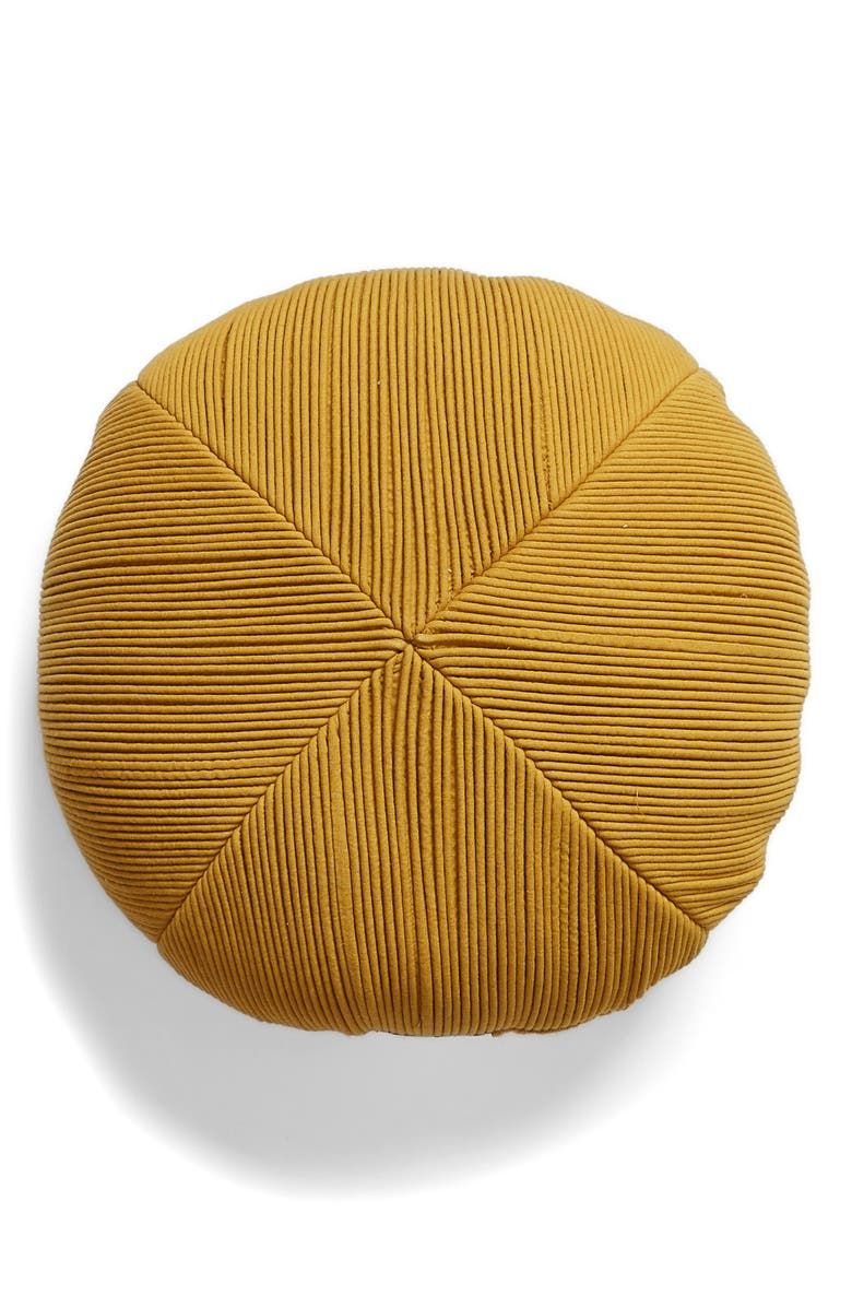 Textured Round Accent Pillow