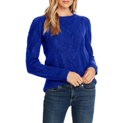 Cece Entwine Cable Knit Sweater, Blue