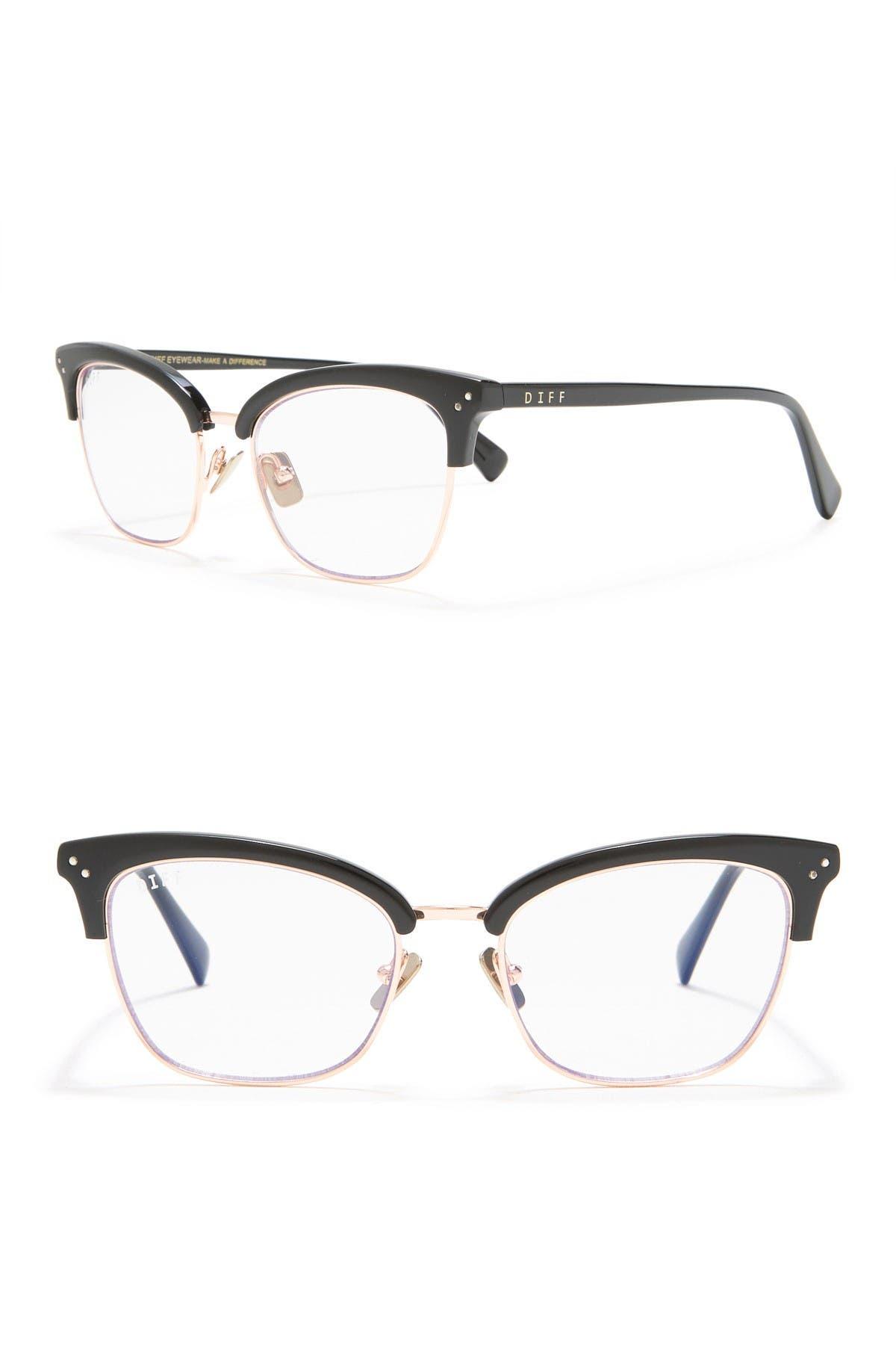 Image of DIFF Eyewear Lucy 51mm Cat Eye Blue Light Blocking Glasses