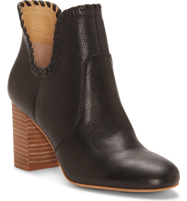 LUCKY BRAND Sivya Bootie, Main, color, BLACK LEATHER