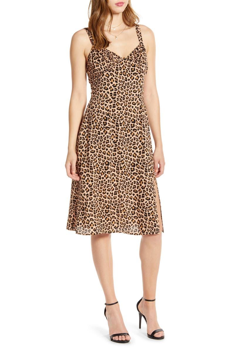 CODEXMODE Leopard Print Sundress, Main, color, LEOPARD