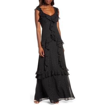 Lilly Pulitzer Riland Clip Dot Maxi Dress, Black