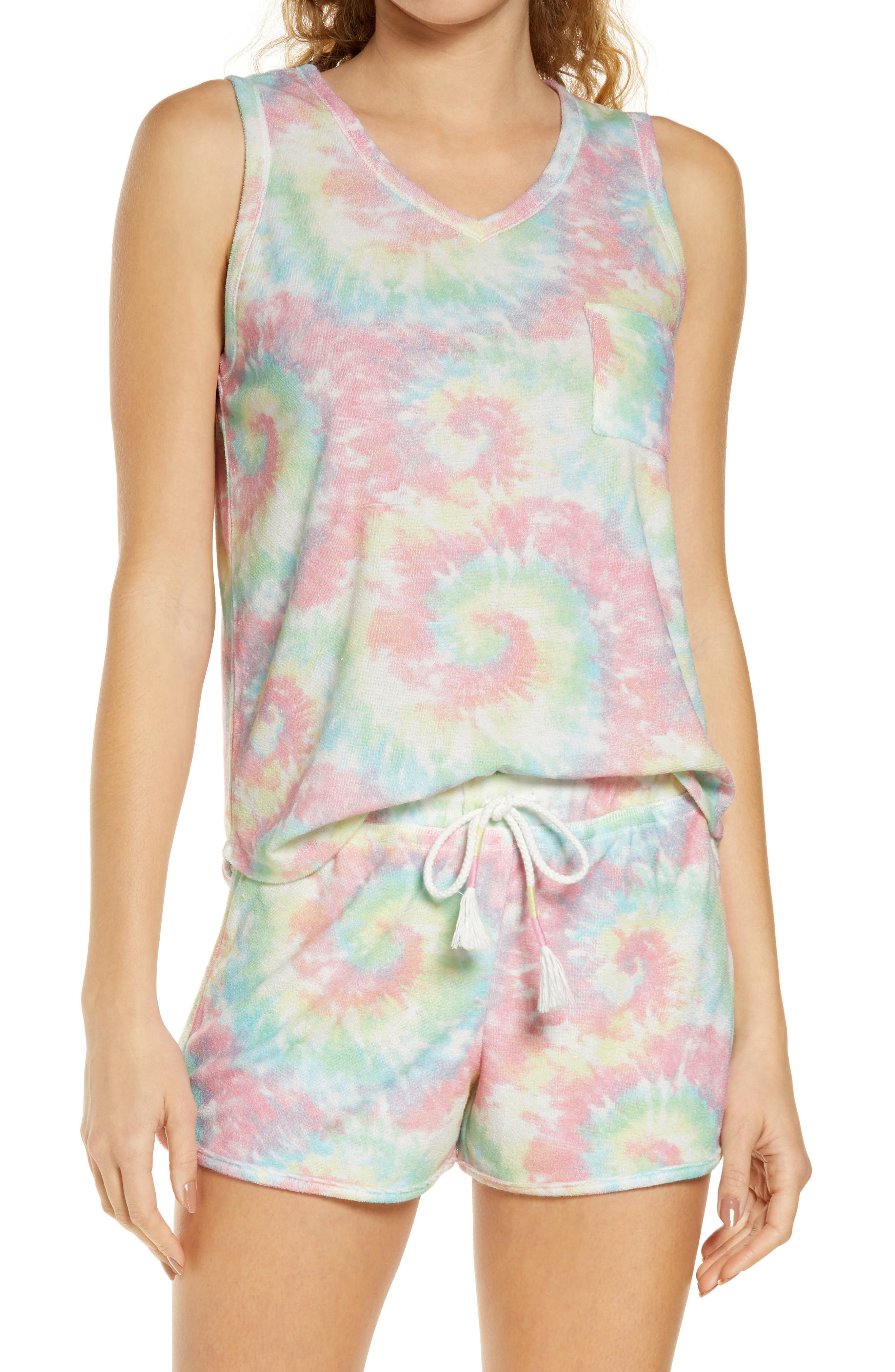 Tie Dye Women's Short Pajamas