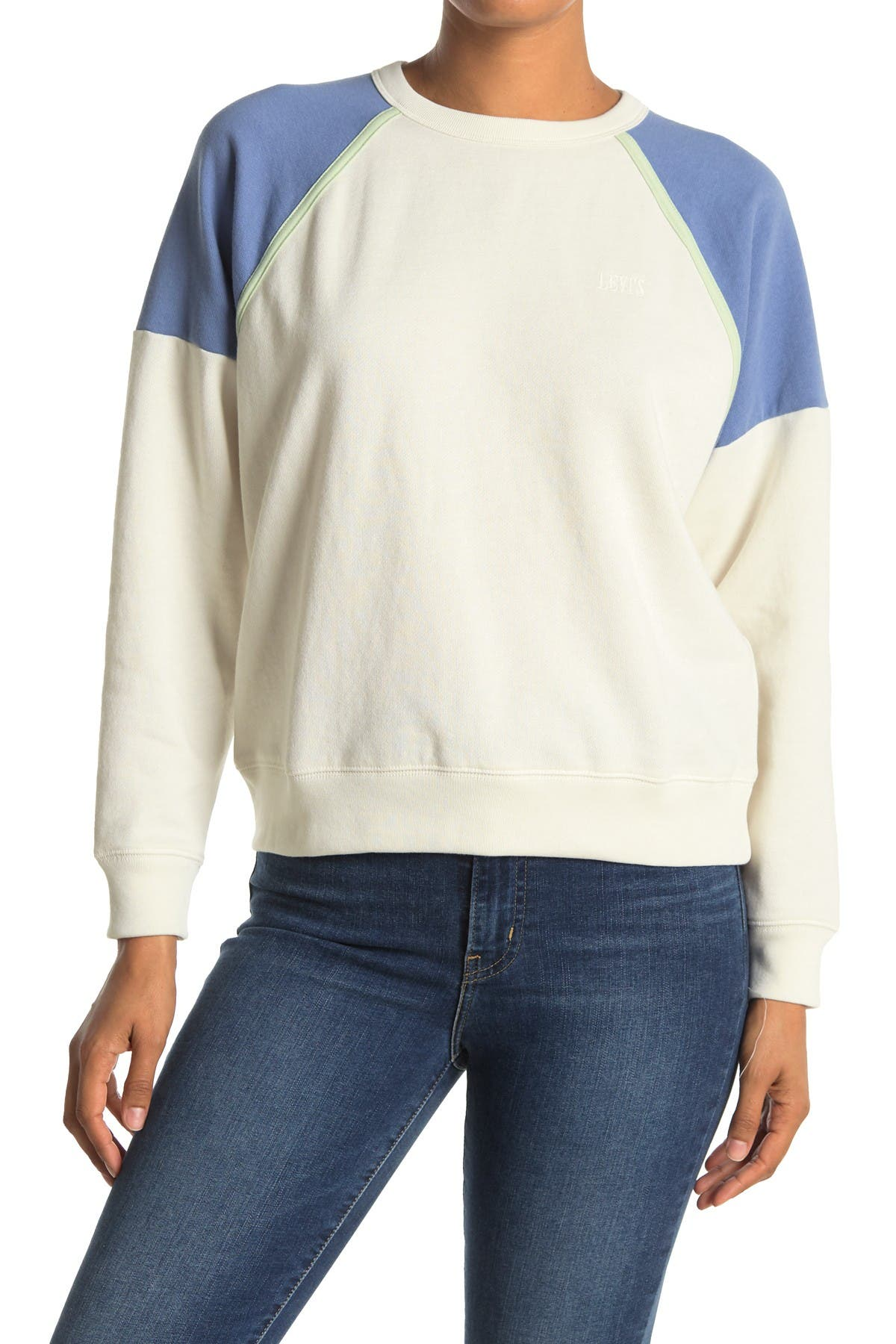 Image of Levi's Everyday Raglan Colorblock Sweatshirt
