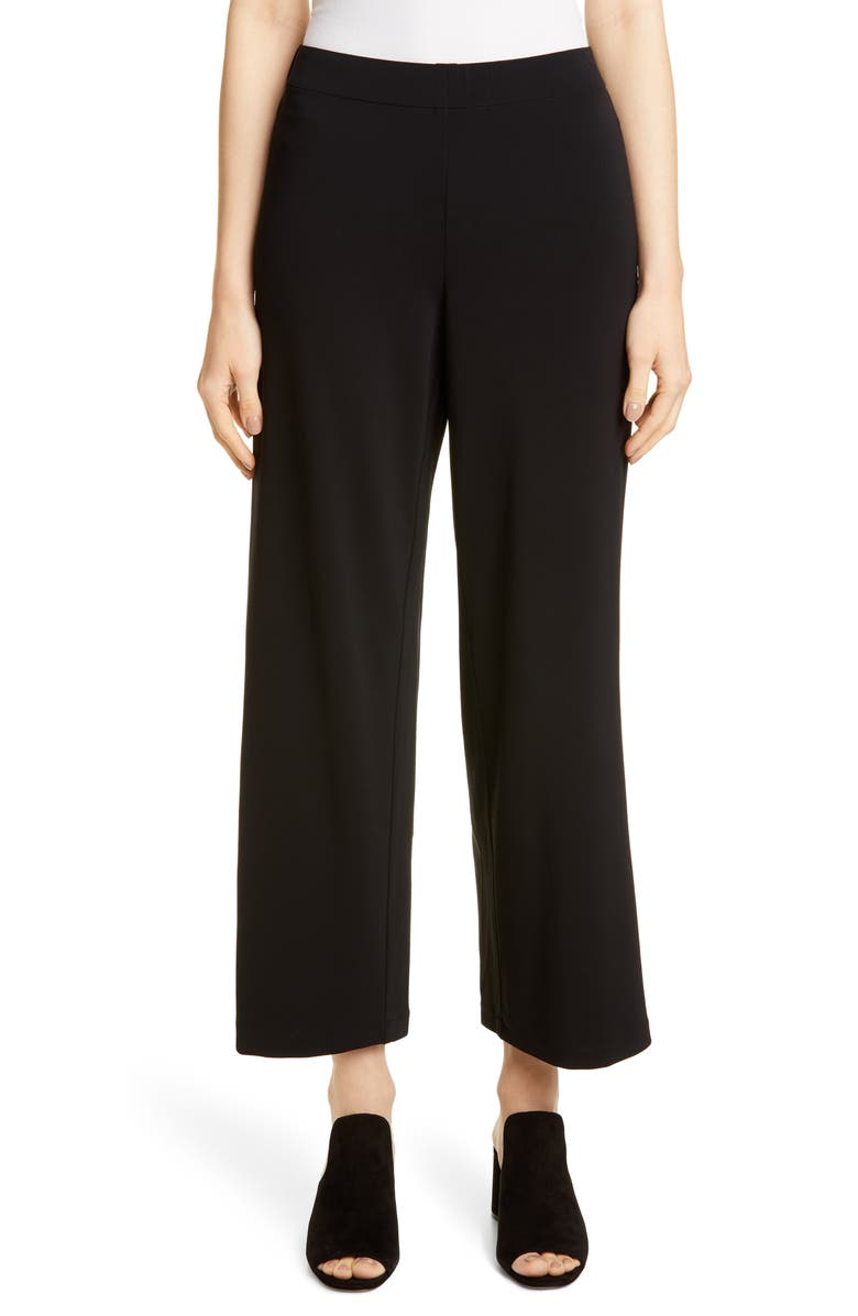 LAFAYETTE 148 NEW YORK Riverside Crop Pants, Main, color, BLACK