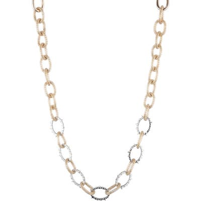 Alexis Bittar Crystal Encrusted Chain Link Necklace