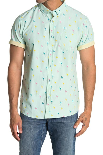 Image of Sovereign Code Crystal Cove Short Sleeve Regular Fit Shirt
