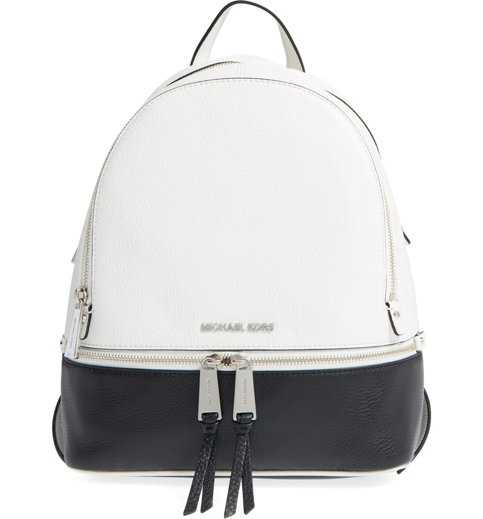 803a85f947fa MICHAEL Michael Kors 'Small Rhea' Leather Backpack | Nordstrom