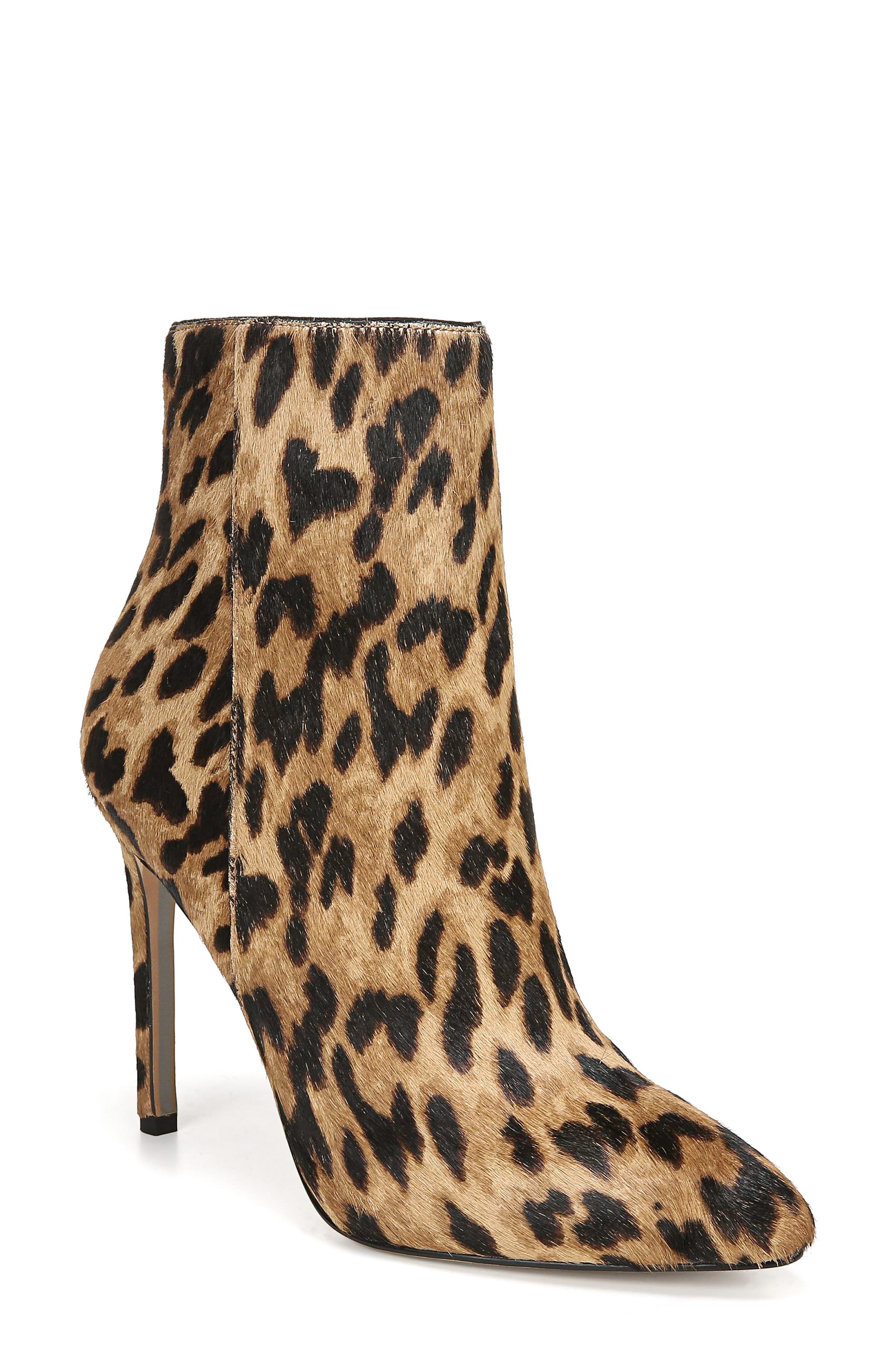Sam Edelman Boots Wren Almond Toe Genuine Calf Hair Bootie