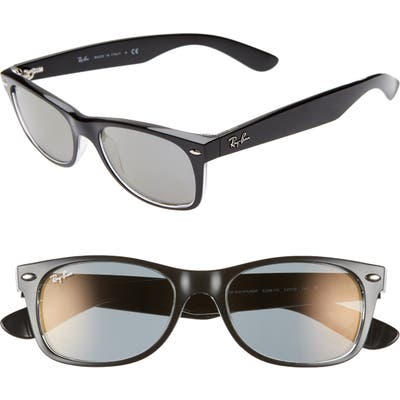 Ray-Ban New Wayfarer Classic 52Mm Sunglasses - Transparent Black Mirror