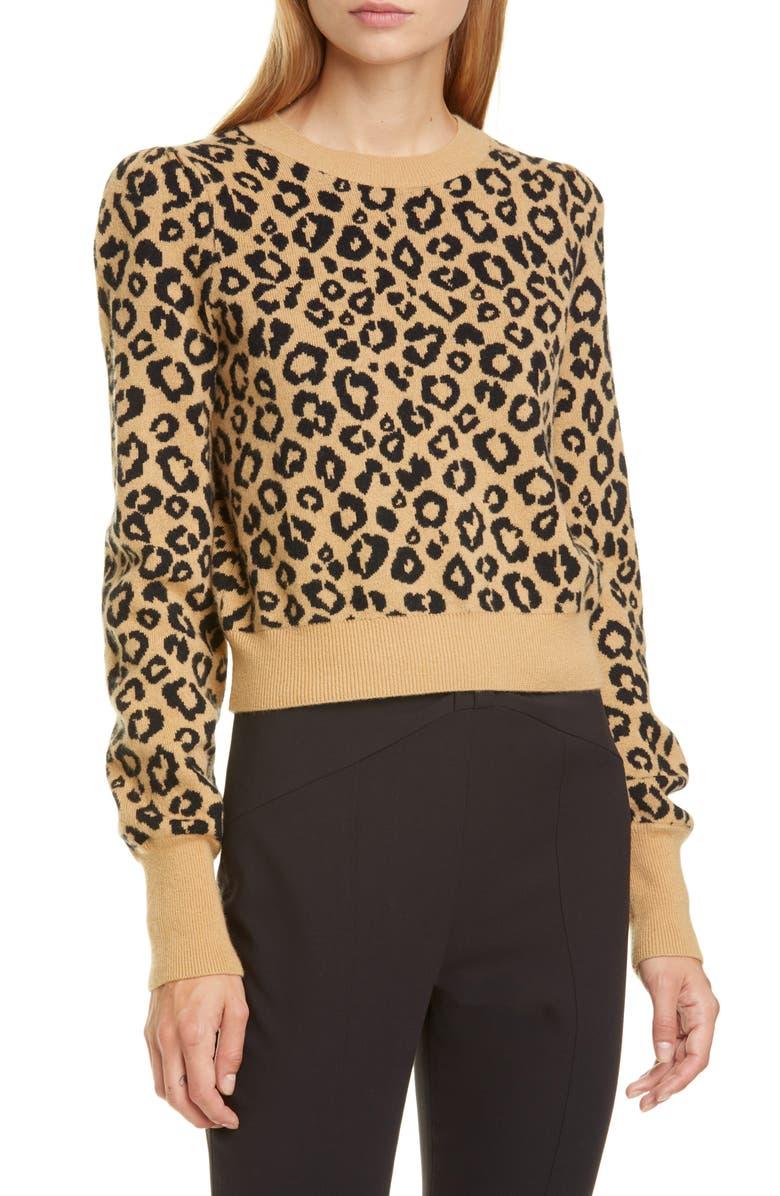 VERONICA BEARD Penny Wool Blend Crop Sweater, Main, color, BEIGE MULTI