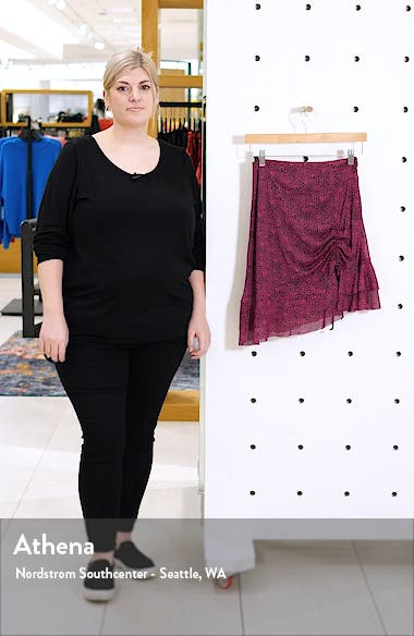 Terry Ruched Ruffle Hem Skirt, sales video thumbnail