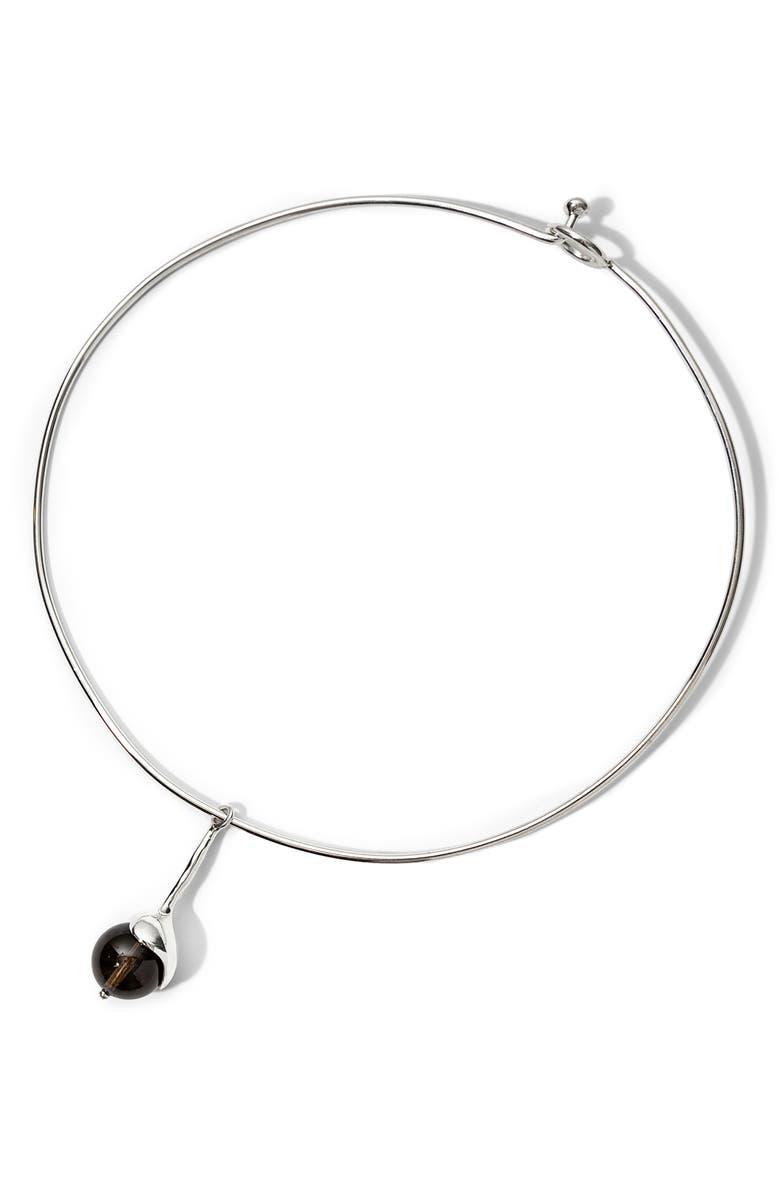 FARIS Sappho Collar Necklace, Main, color, SILVER