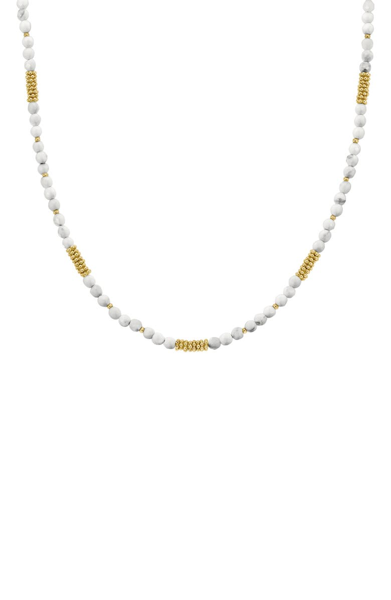 ANNA BECK Divided Beaded Choker, Main, color, GOLD/ HOWLITE