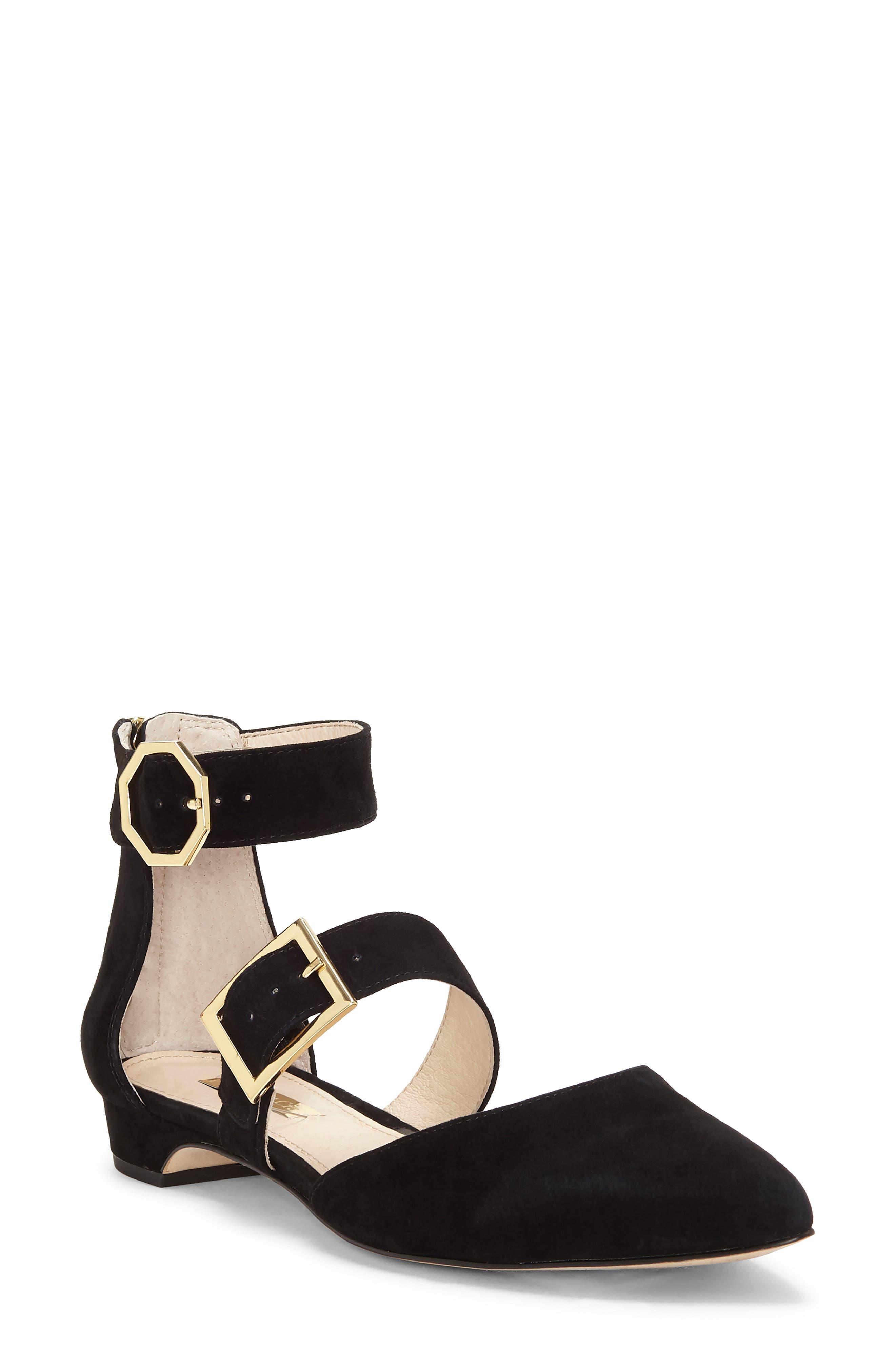 Louise Et Cie Corriett Ankle Strap Sandal- Black