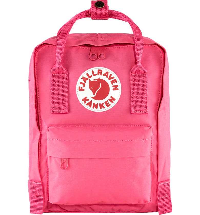 FJÄLLRÄVEN 'Mini Kånken' Water Resistant Backpack, Main, color, FLAMINGO PINK