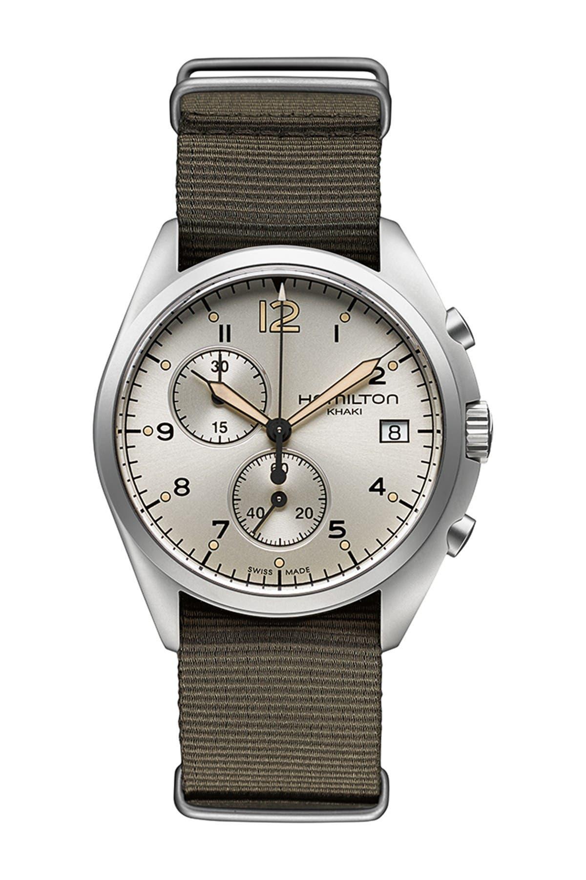 Image of Hamilton Men's Khaki Pilot Pioneer Quartz Watch, 41mm