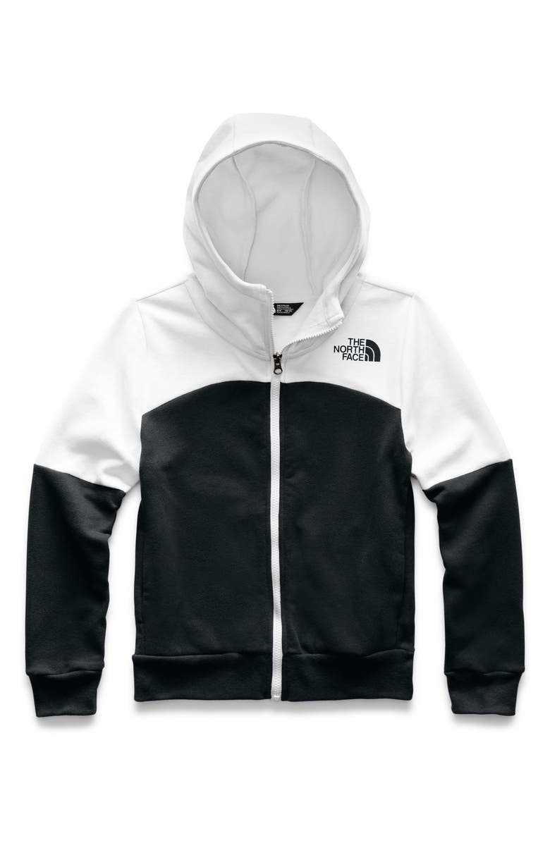 THE NORTH FACE Metro Logo Fleece Zip Hoodie, Main, color, 001