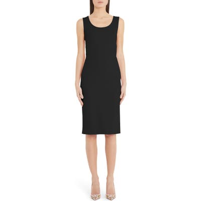Dolce & gabbana Scoop Neck Sheath Dress, 8 IT - Black