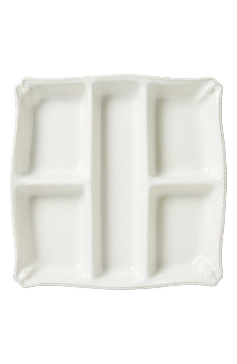JULISKA 'Berry and Thread' Ceramic Appetizer Platter, Main, color, WHITEWASH