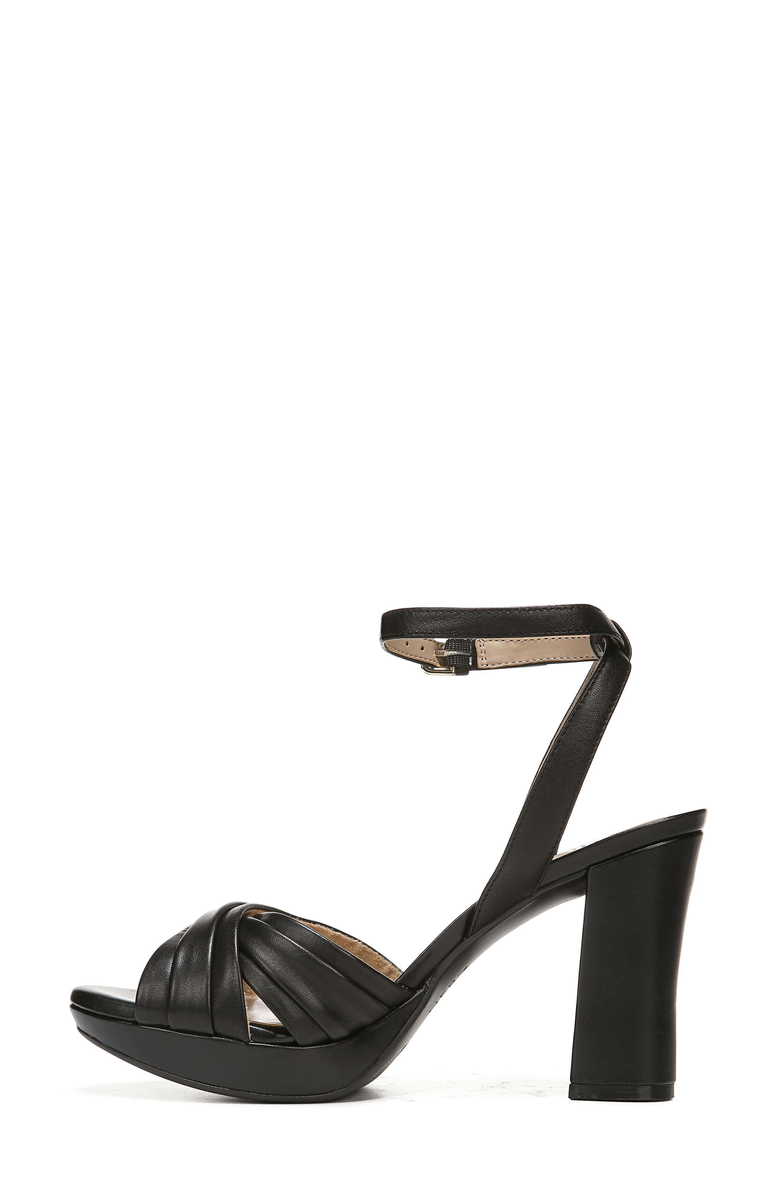 ,                             Avril Ankle Strap Sandal,                             Alternate thumbnail 8, color,                             BLACK LEATHER