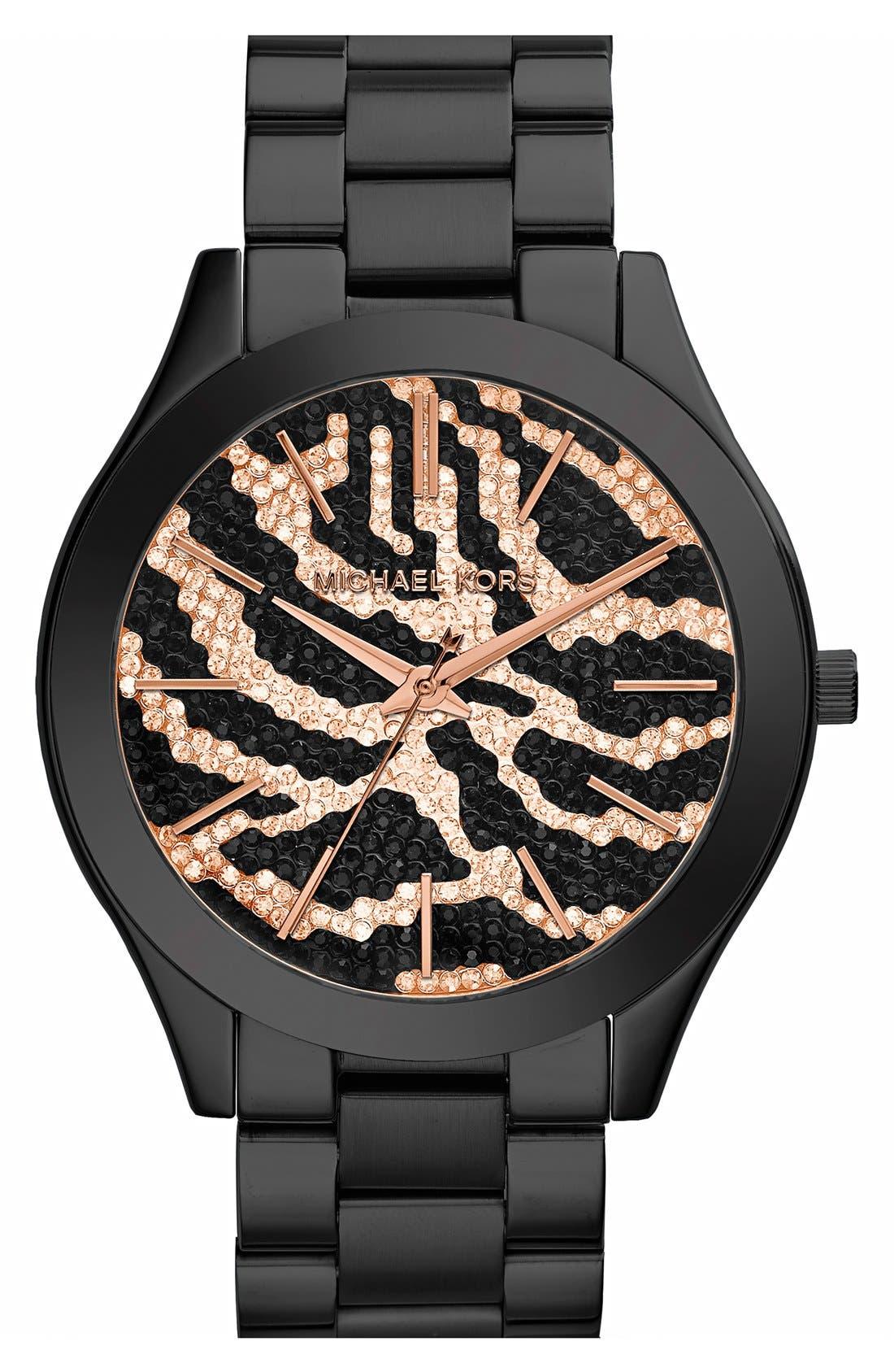 ,                             'Slim Runway' Bracelet Watch, 42mm,                             Main thumbnail 11, color,                             002