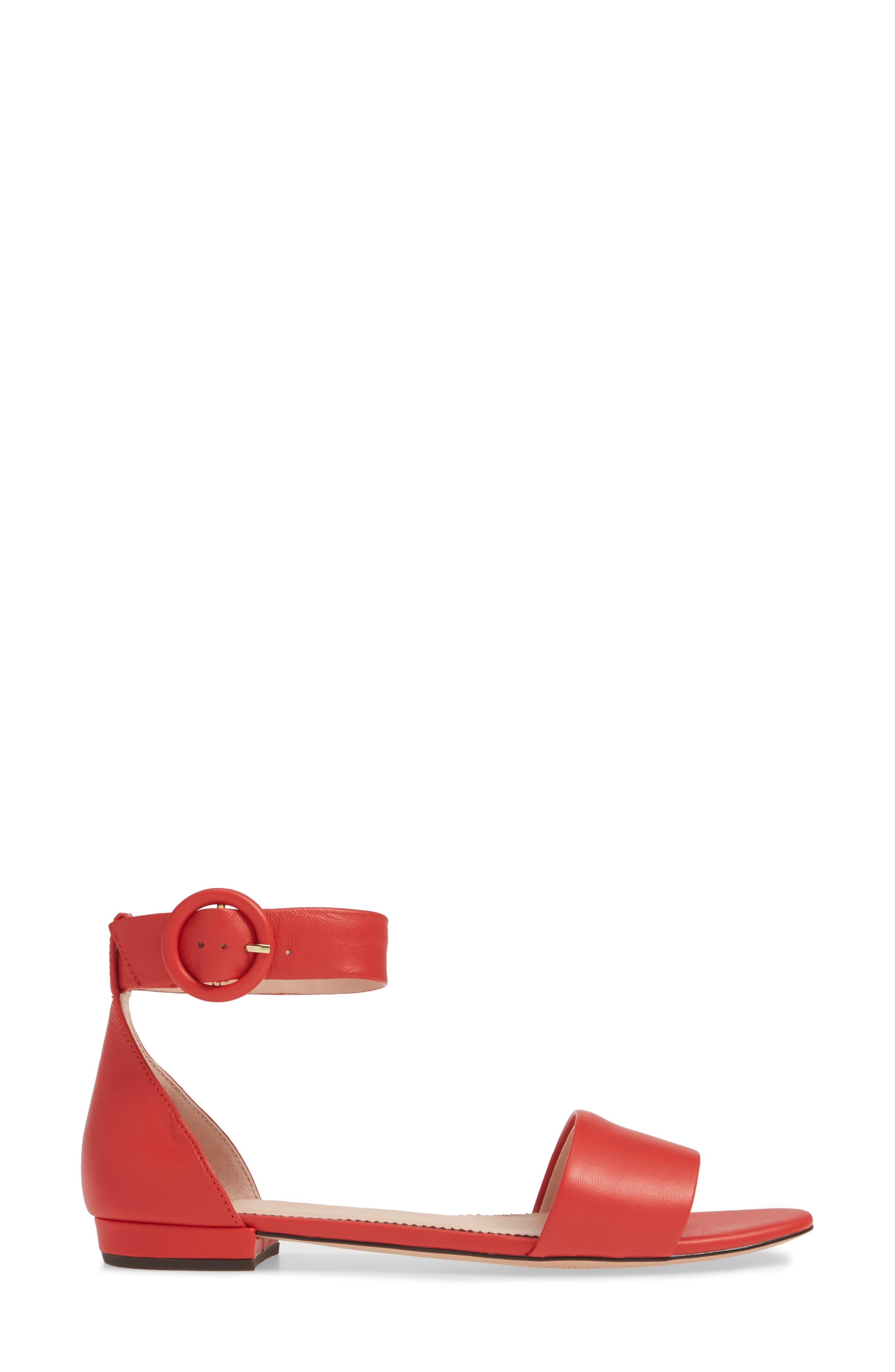 ,                             Ankle Strap Flat Sandal,                             Alternate thumbnail 9, color,                             600