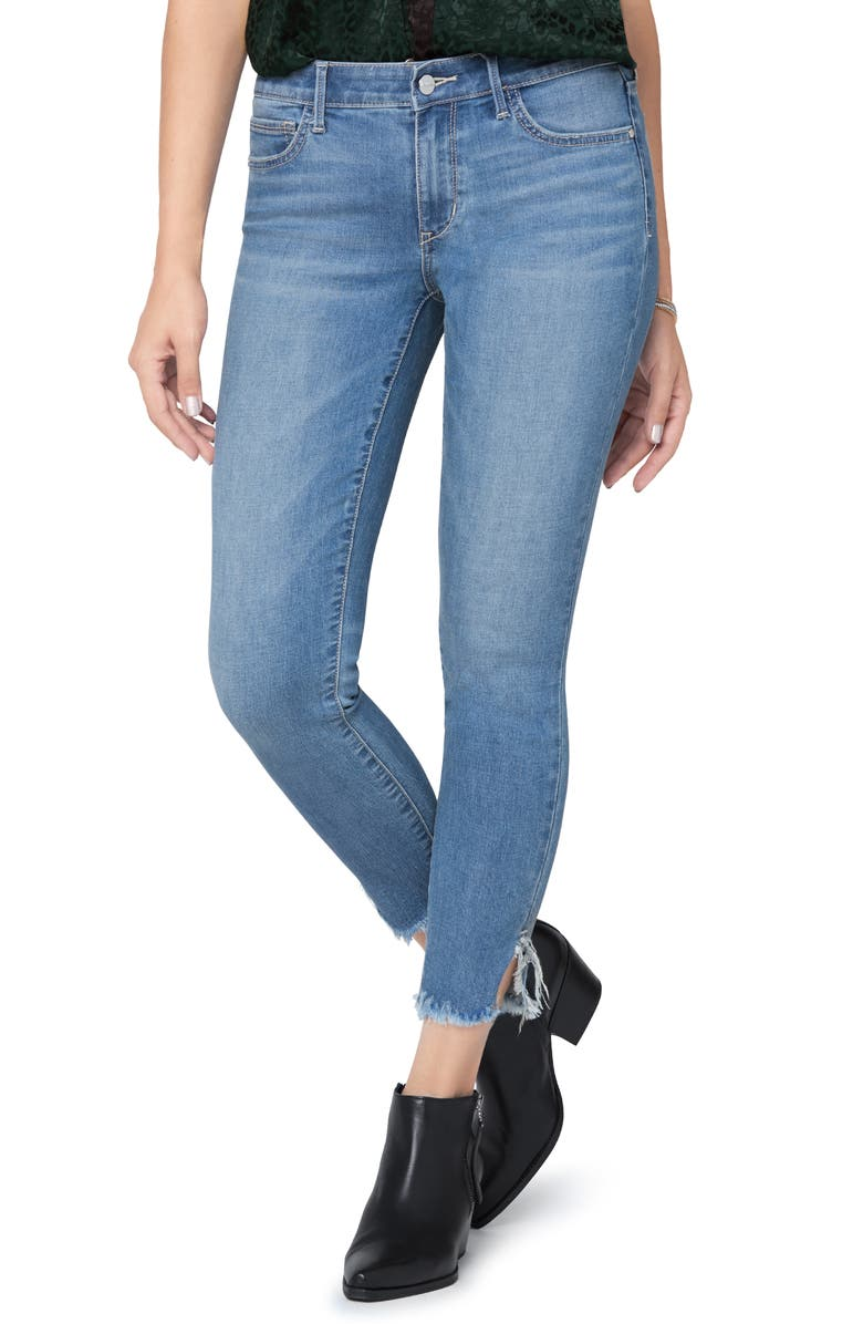 SAM EDELMAN The Kitten Frayed Crop Skinny Jeans, Main, color, 454