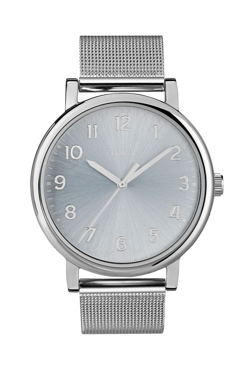 TIMEX<SUP>®</SUP> 'Easy Reader' Mesh Bracelet Watch, 38mm, Main, color, 040