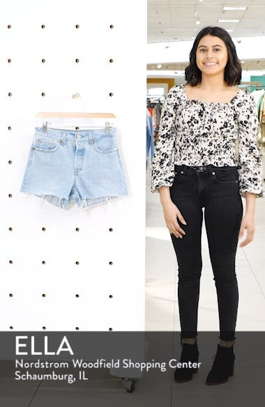 Wedgie High Waist Denim Shorts, sales video thumbnail