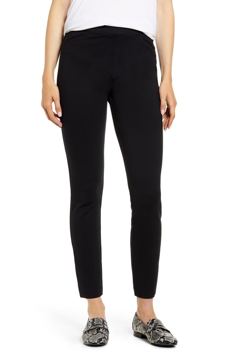 SPANX<SUP>®</SUP> Back Seam Skinny Ponte Pants, Main, color, CLASSIC BLACK