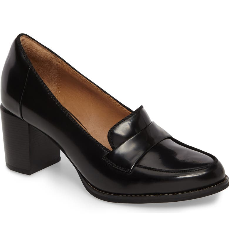 CLARKS<SUP>®</SUP> Tarah Grace Pump, Main, color, BLACK LEATHER