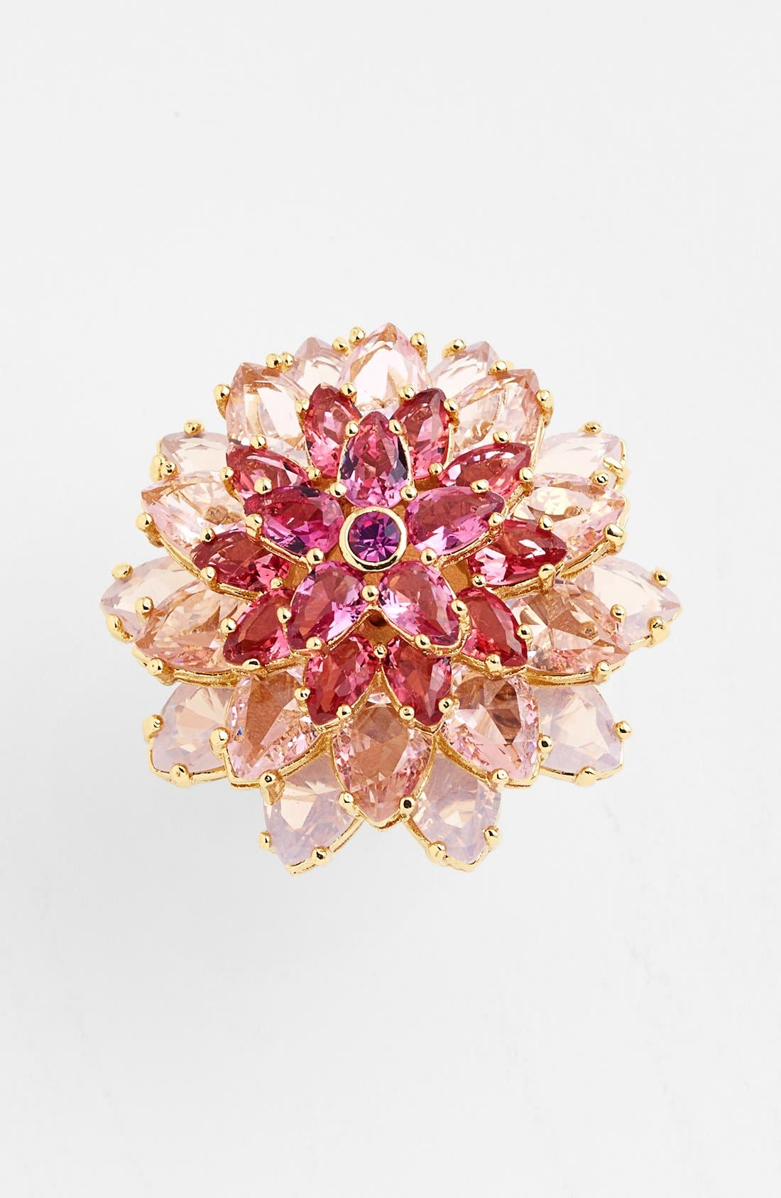 'ombré bouquet' crystal statement ring, Main, color, 650