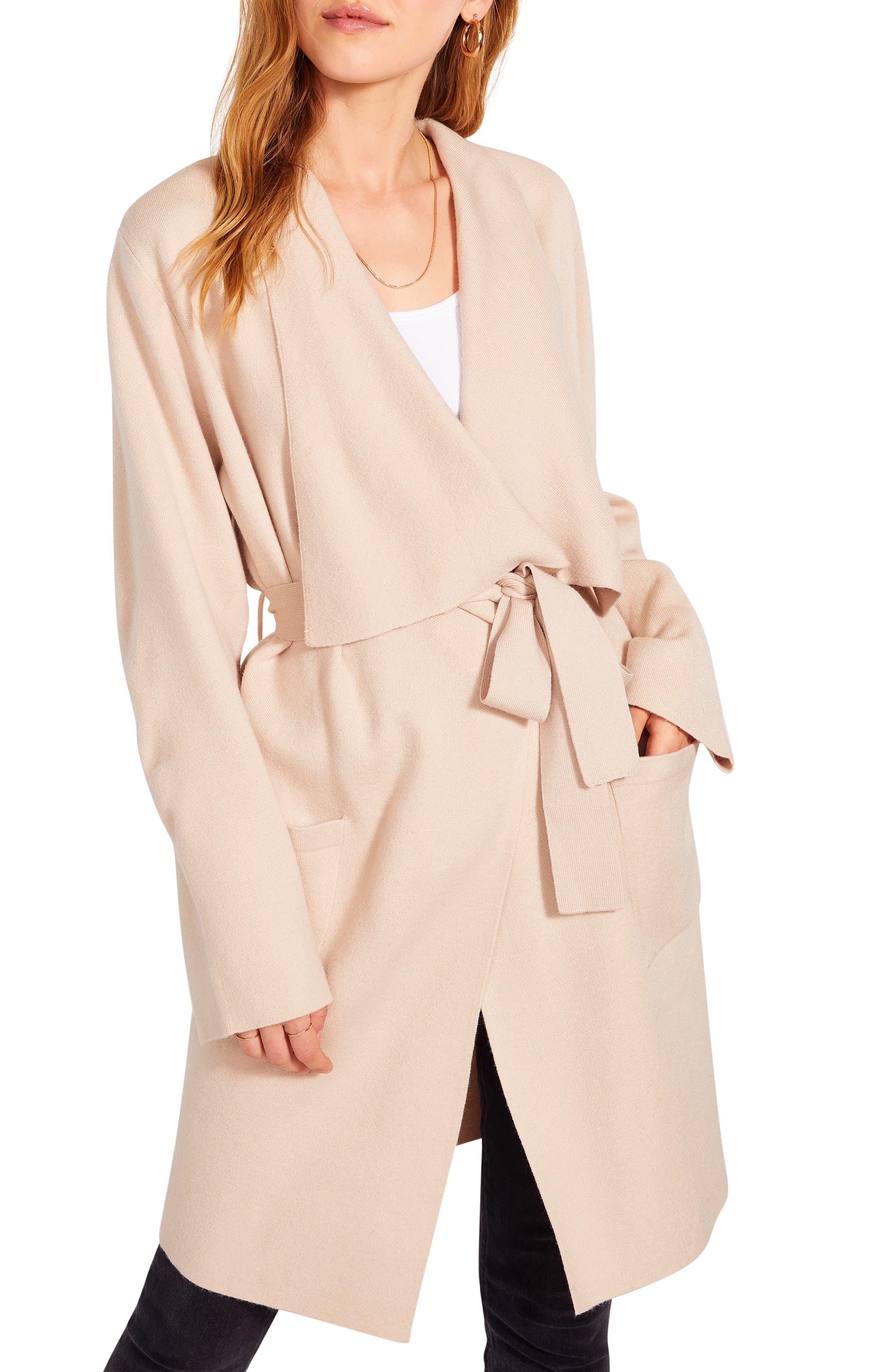 Women's Bb Dakota Drape Front Cardigan Coat