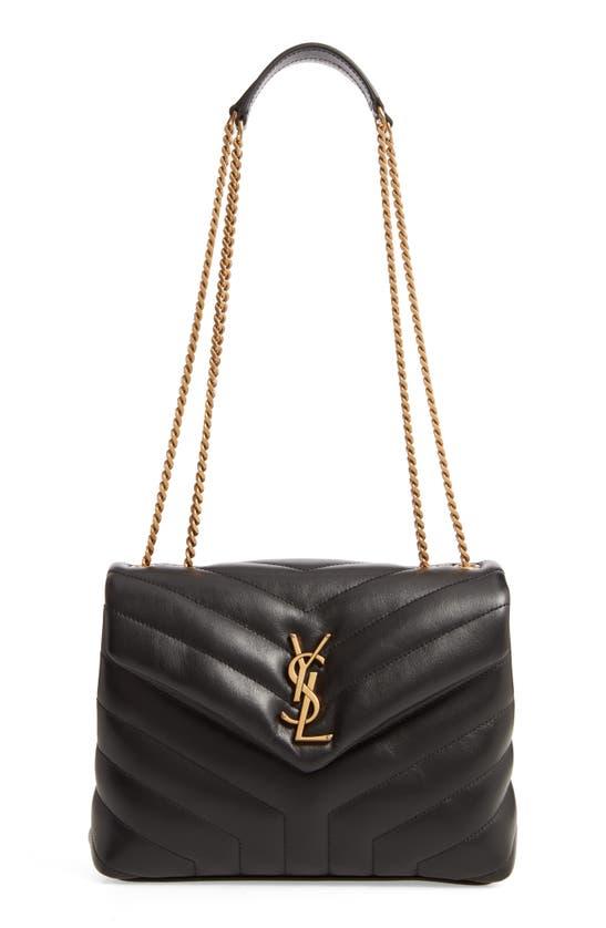 Saint Laurent Small Supple Monogramme Loulou Chain Bag In Noir