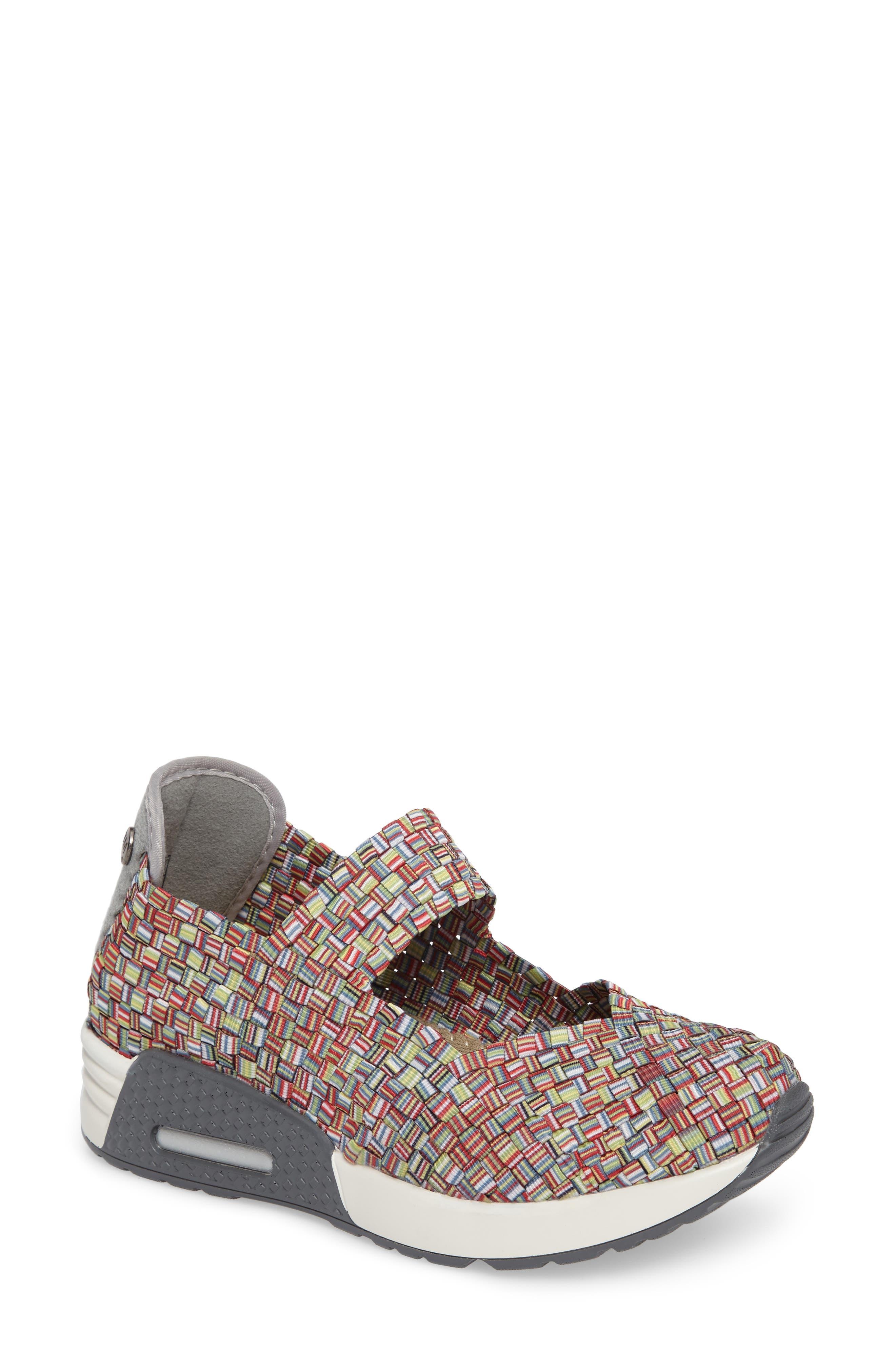 Bernie Mev. Best Charm Mary Jane Sneaker, Red